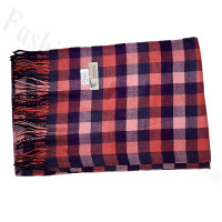 Cashmere Feel Pattern Scarf Pink/Navy
