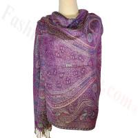 Paisley Patterned Pashmina Purple