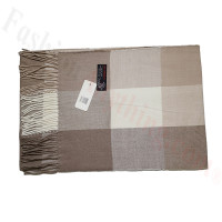 Cashmere Feel Pattern Scarf Light Brown