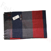 Cashmere Feel Pattern Scarf Red/Grey