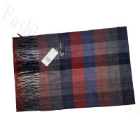 Cashmere Feel Plaid Scarf Red/Navy