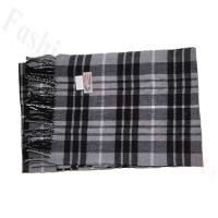Cashmere Feel Pattern Scarf 102012 Black/Grey