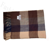 Cashmere Feel Pattern Scarf 17920 Brown