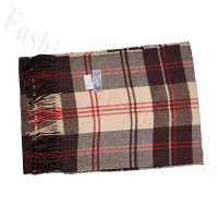 Cashmere Feel Pattern Scarf 24820 Brown/Red