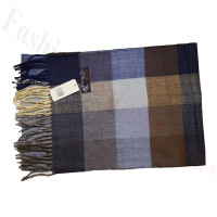 Cashmere Feel Pattern Scarf Brown/Navy