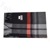 Cashmere Feel Classic Scarf Black/Grey