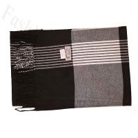 Cashmere Feel Pattern Scarf 36-2 Black/White