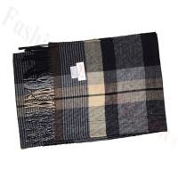 Cashmere Feel Pattern Scarf 37439 Black/Grey