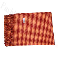 Cashmere Feel Design Scarf Orange Red
