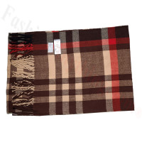 Cashmere Feel Pattern Scarf 46047 Brown/Red