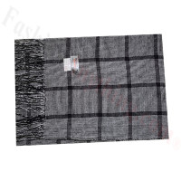 Cashmere Feel Pattern Scarf 51753 Black/White