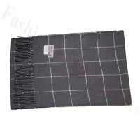 Cashmere Feel Pattern Scarf Charcoal