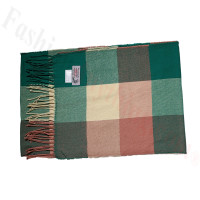 Cashmere Feel Pattern Scarf Green