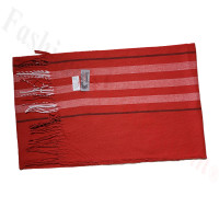 Cashmere Feel Pattern Scarf 90127 Red