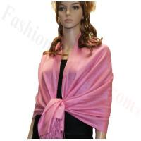 Paisley Jacquard Pashmina Medium Pink