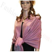 Paisley Jacquard Pashmina Orchid Pink