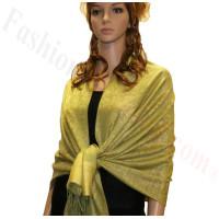Paisley Jacquard Pashmina Lime w/ Yellow