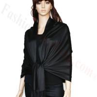 Luxury Pashmina Wrap Black