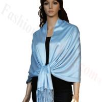 Luxury Pashmina Wrap Sky Blue