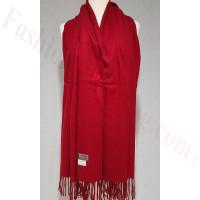 Winter Cashmere Feel Wrap Dark Red