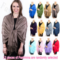 Solid Pashmina Scarf Silky Soft 1 DZ, Asst. Color