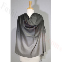 Ombre Solid Pashmina Black