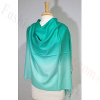 Ombre Solid Pashmina Green