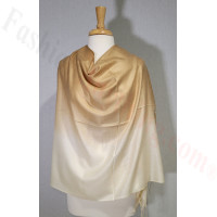 Ombre Solid Pashmina Camel