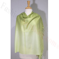 Ombre Solid Pashmina Lime Green