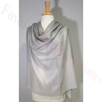 Ombre Solid Pashmina Grey