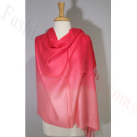 Ombre Solid Pashmina Red