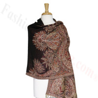 Phoenix Tail Thicker Label Pashmina Black/Red