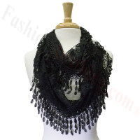 Infinity Lace Scarf Black