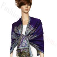 Big Paisley Thicker Pashmina Purple