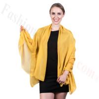Light Solid Chiffon Shawl Golden Yellow