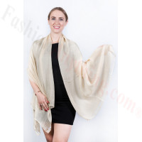 Light Solid Chiffon Shawl Beige