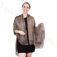 Light Solid Chiffon Shawl Mocha