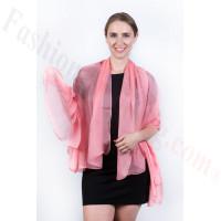 Light Solid Chiffon Shawl Pink