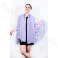 Light Solid Chiffon Shawl Light Purple