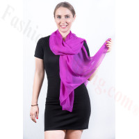 Light Solid Chiffon Shawl Purple