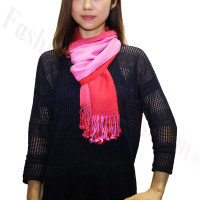 Ombre Solid Print Scarf Pink/Red