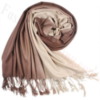 Ombre Solid Print Scarf Mocha/Beige