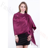 Silky Soft Solid Pashmina Scarf Wine