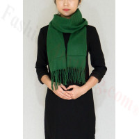 Winter Cashmere Feel Scarf Green