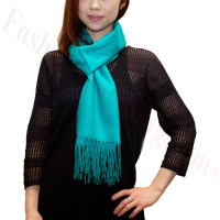 Winter Cashmere Feel Scarf Teal Green