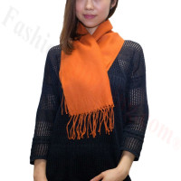 Cashmere Feel Scarf 1DZ, Persimmon