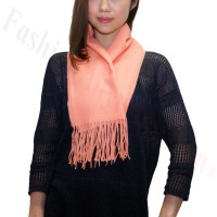 Winter Cashmere Feel Scarf Coral