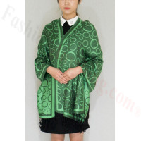 Circle Design Pashmina Green