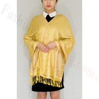 Circle Design Pashmina Yellow/Beige