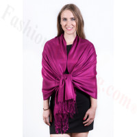 Silky Soft Solid Pashmina Scarf Plum Berry